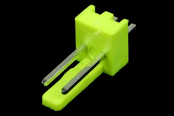 mod/smart Fan Power Connector 2Pin plug - UV-reactive brite green
