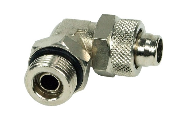 13/10mm (10x1,5mm) compression fitting 90° revolvable outer thread 3/8