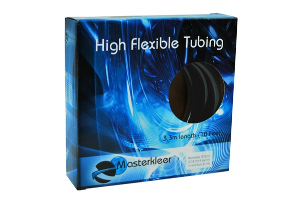 "Masterkleer tubing PVC 16/10mm (3/8""ID) UV-reactive black 3,3m (10ft) ""Retail Package"""