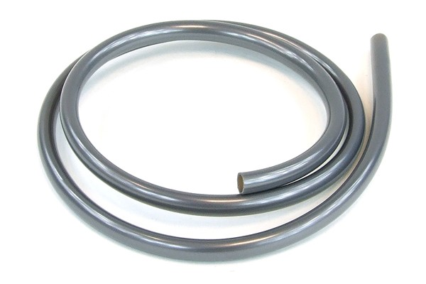 "tubing PUR 10/8mm (5/16""ID) UV-active silver"