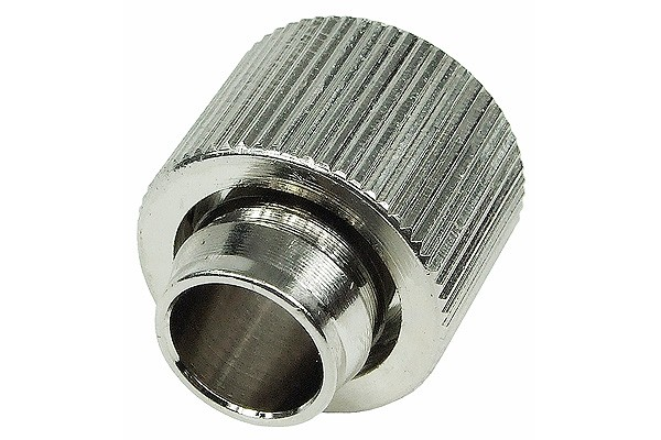 "16/13mm compression fitting straight G1/4"" - compact - silver nickel plated"