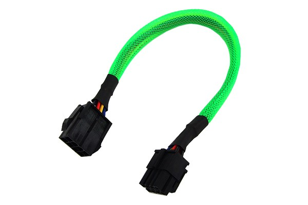 Phobya extension 8-Pin or EPS12V 30cm - UV green