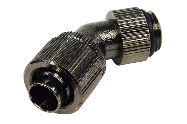 13/10mm (10x1,5mm) compression fitting 45° revolvable outer thread 1/4 - compact - black nickel