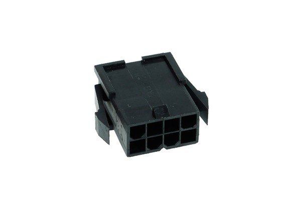Phobya ATX Power Connector 8Pin female inkl. 8 Pins - black