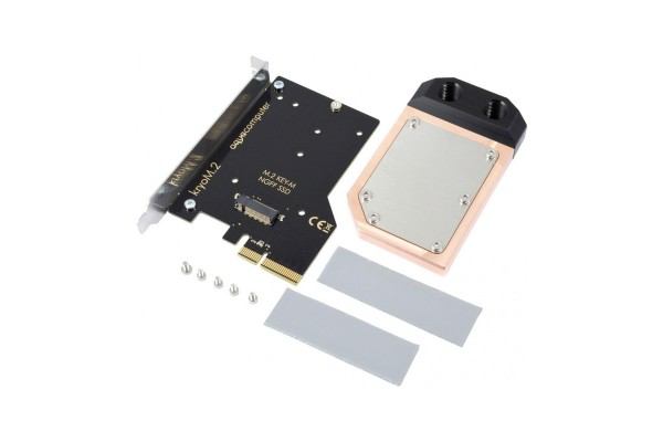 Aquacomputer kryoM.2 PCIe 3.0 x4 adapter for M.2 NGFF PCIe SSD, M-Key with water block
