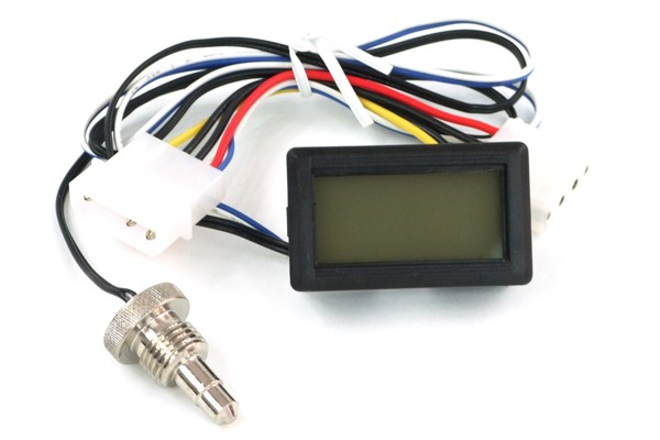 temperature sensor G1/4 with Display (red)