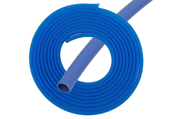"Phobya Simple Sleeve Kit 3mm (1/8"") UV blue 2m incl. Heatshrink 30cm"
