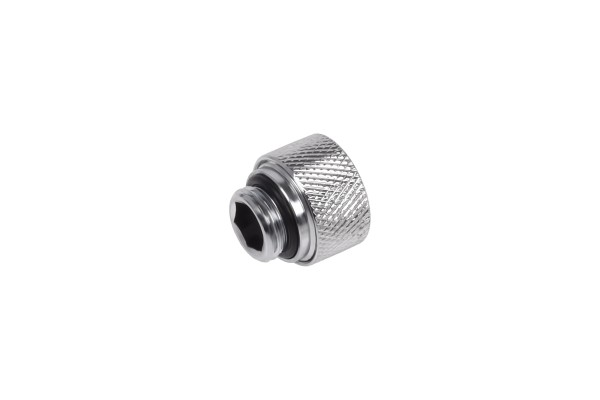 Alphacool Eiszapfen 12mm HardTube compression fitting G1/4 - knurled - chrome