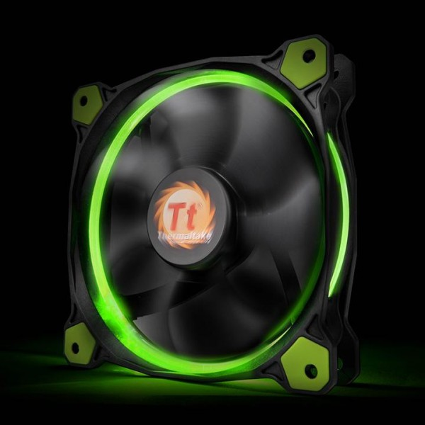 Thermaltake Riing 12 LED green, casefan - (120x120x25mm)