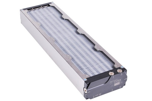 Aquacomputer airplex modularity system 480 mm, aluminum fins, two circuits, stainless steel side panels
