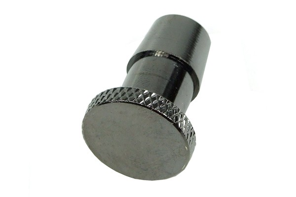 "10mm (3/8"") sealing plug knurled - black nickel"