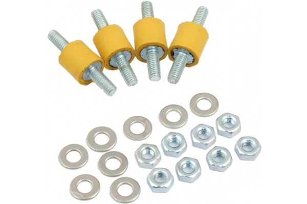 Aquacomputer decoupling kit for pump mounting extrasoft yellow rubber buffer