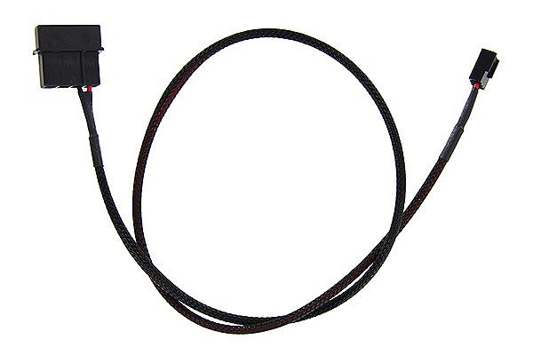 ModMyToys 4-Pin male to 3-Pin male Cable Adapter 60cm - Black
