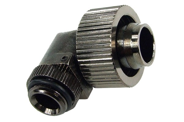 19/13mm compression fitting 90° revolvable G1/4 - compact - black nickel