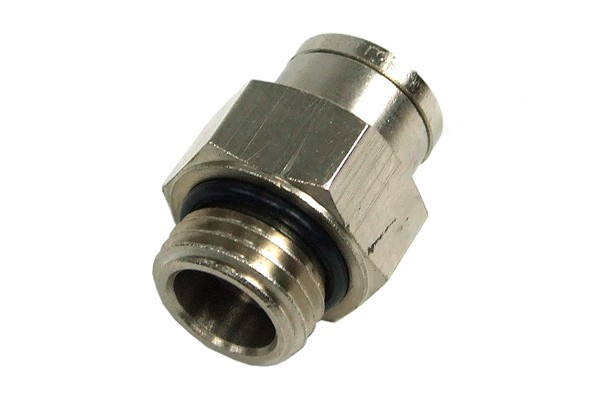 8mm G1/4 Plug fitting - nickel plated