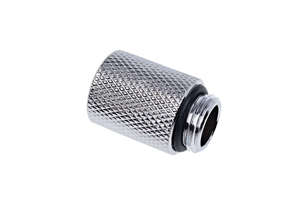 Alphacool Eiszapfen extension 20mm G1/4 outer thread to G1/4 inner thread - chrome