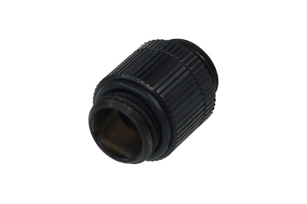 Alphacool double nipple G1/4'' outer thread to G1/4'' outer thread revolvable - deep black