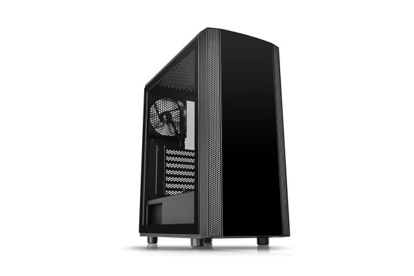 Thermaltake Versa J25 TG Midi Tower case - black with window