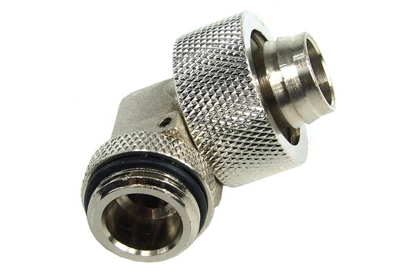 19/13mm compression fitting 90° revolvable G3/8 – silver nickel plated