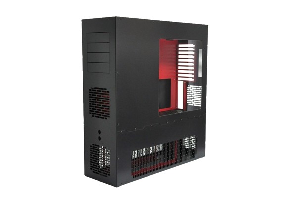 LD Cooling Big-Tower Reverse PC-V8-BR-UNI-RE - Black/Red