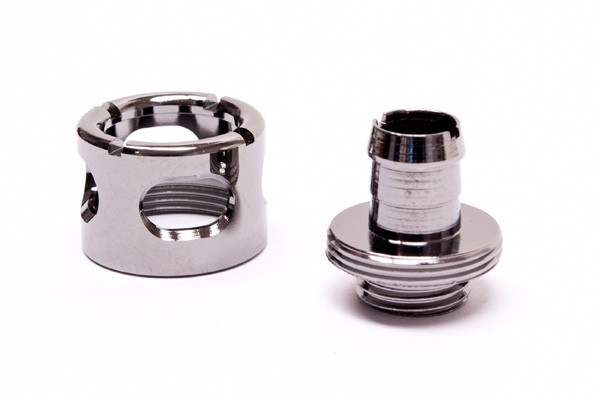 "Monsoon 16/10mm (ID 3/8"" OD 5/8"") compression fitting - Black Chrome"