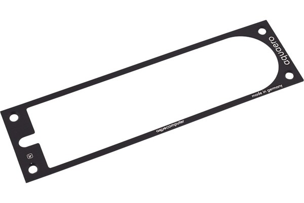 Aquacomputer faceplate for aquaero 5 und 6 XT (für 70213 und 70228) alu black new revision)
