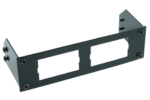 Phobya front faceplate for 2 displays - black