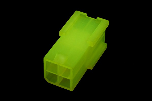 mod/smart ATX Power Connector 4Pin socket - UV-reactive brite green