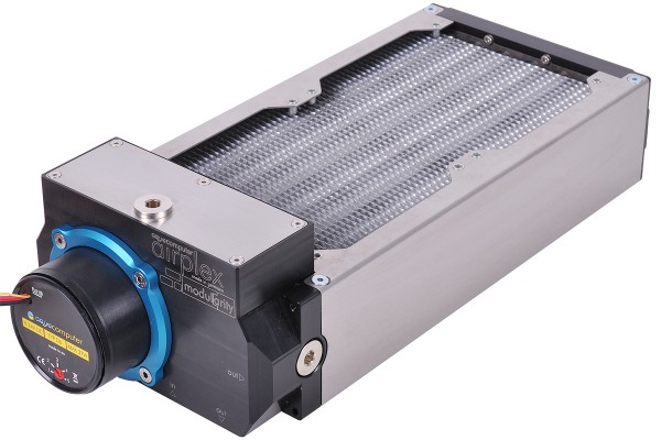 Aquacomputer airplex modularity system 240 mm, aluminum fins, D5 pump, stainless steel side panels