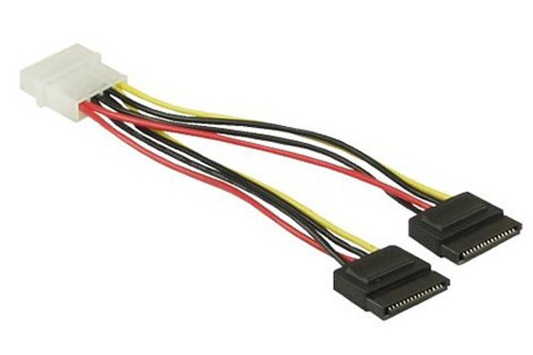 Strom/SATA Y-cable internal 4Pin Molex to 2x SATA 15cm