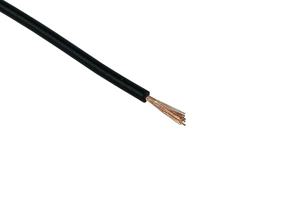 Insulated copper lead 1x0,14mm² 10m black