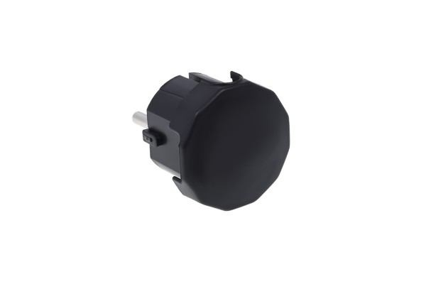 230V ''Schuko'' earthed safety plug black