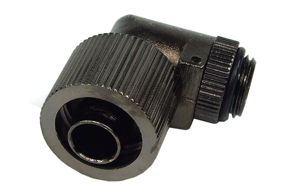 16/10mm compression fitting 90° revolvable G1/4 - compact - black nickel